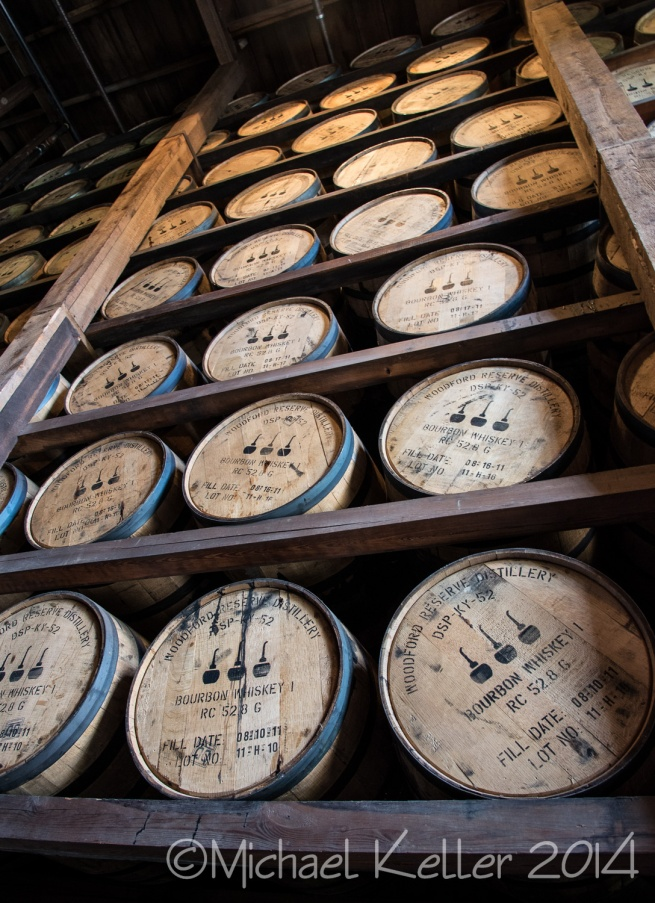 The bourbon is aged in the Barrel Warehouse