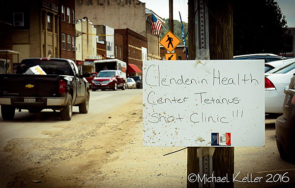 Tetanus shots sign